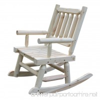 VH FURNITURE Wood Rocking Chair Single Porch Rocker Natural Design Outdoor And Indoor Use For Porch And Patio Fir Wood - B07BT5Y7QK