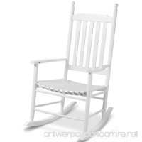 White Wood Rocking Chair Porch Rocker Patio Deck Garden Backyard Furniture - B07FDG1MQX