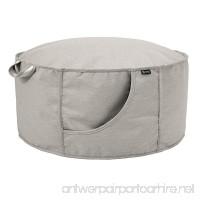 Classic Accessories Montlake FadeSafe Frameless Furniture Indoor/Outdoor Bean Bag Ottoman Grey - B07CZC1YZ2