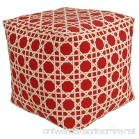 Codson Park 81155 Kane Red Outdoor/Indoor Pouf 18-Inch - B00TLMTZWC