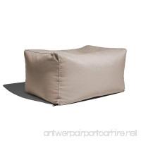 Jaxx Leon Outdoor Bean Bag Ottoman Bench Premium Sunbrella Flax - B07FB63RZL