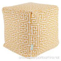"Majestic Home Goods Citrus Towers Indoor/Outdoor Bean Bag Ottoman Pouf Cube 17"" L x 17"" W x 17"" H - B00DJWD5AI"