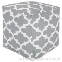 Majestic Home Goods Gray Trellis Indoor/Outdoor Bean Bag Ottoman Pouf Cube 17 L x 17 W x 17 H - B00NC2MSX0