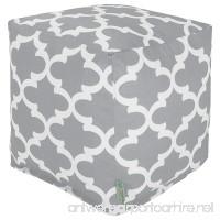 Majestic Home Goods Gray Trellis Indoor/Outdoor Bean Bag Ottoman Pouf Cube 17 L x 17 W x 17 H - B00NC2MSX0