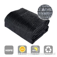 Agfabric 40% Sunblock Shade Cloth Cover with Clips for Plants 10' X 10' Black - B00LH88HUO