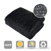 Agfabric 50% Sunblock Shade Cloth Cover with Clips for Plants 6.5' X 12'  Black - B01GDTA8H6