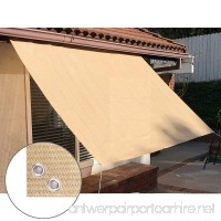 Alion Home Sun Shade Privacy Panel with Grommets on 4 Sides for Patio Awning Window Cover Pergola Or Gazebo - Banha Beige (10' x 5') - B07FN4HPR4