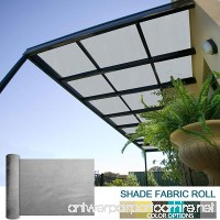 Coarbor 8Ft x 35Ft Shade Cloth Pergola Patio Cover Provide Shade Fabric Roll Mesh Screen Heavy Duty Provide Privacy Permeable UV Resistant Make to Order- Light Grey - B079PNCPGF