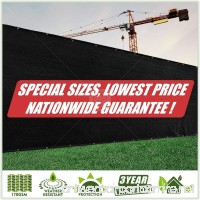 ColourTree 4' x 3' Black Fence Privacy Screen Windscreen Cover Fabric Shade Tarp Netting Mesh Cloth - Commercial Grade 170 GSM - Heavy Duty - 3 Years Warranty - CUSTOM SIZE AVAILABLE - B07DHZL21F