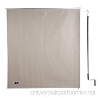 Cool Area 6ft x 6ft Outdoor Cordless Roller Sun Shade for Proch Patio in color Sesame - B01CQPISHI