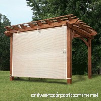Easy2Hang 8x6ft wheat Alternative solution for Roller Shade Exterior Privacy Side Shade Panel for Pergola  Patio  Window - B00YM8RA0O