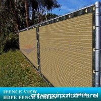 Ifenceview 6'x3' to 6'x50' Beige Shade Cloth/Fence Privacy Screen Fabric Mesh Net for Construction Site Yard Driveway Garden Railing Canopy Awning 160 GSM UV Protection (6' x 10') - B078JRGDR9