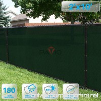PATIO Fence Privacy Screen 2' x 10'  Pergola Shade Cover Canopy Sun Block  Heavy Duty Fence Privacy Netting  Commercial Grade Privacy Fencing  180 GSM  90% Privacy Blockage (Dark Green) - B07F1Z6BQY