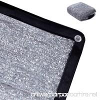 Rovey 70% 6.5ft x 8ft Knitted Aluminet Shade Cloth Panels Sun Block Reflective - B07DD6Q9PV