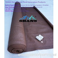SHANS New Design Brown 90% UV Shade Fabric For Patio 6Ft by 15Ft with Plastic Grommets Clips Free - B01H1JIT64