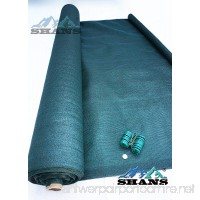 SHANS New Design Heavy Dark Green Shade Cloth 6ft x 30ft with Clips Free - B00SQTXLU8
