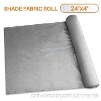 Sunshades Depot 24' x 4' Shade Cloth 180 GSM HDPE Light Grey Fabric Roll Up to 95% Blockage UV Resistant Mesh Net - B07C5CVBJ1