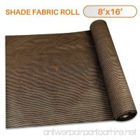 Sunshades Depot 8'x15' Shade Cloth 180 GSM HDPE Brown Fabric Roll Up to 95% Blockage UV Resistant Mesh Net - B01ND1JM9T