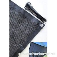 YGS 80% Black 10ftx20ft Shade Cloth UV Resistant Net For Garden Flower Plant - B01LZNWJGA