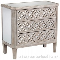55 Downing Street Charly Natural Whitewash 3-Drawer Lattice Accent Chest - B071WG1QSK