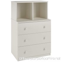 Ameriwood Home Skyler 3 Drawer Dresser with Cubbies White - B00WUUU0J4