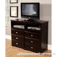 Discovery World Furniture 6 Drawer Entertainment Dresser Espresso - B00T7NPDO4