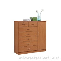 HODEDAH IMPORT Hodedah 7 Drawer Jumbo Chest Five Large Drawers Two Smaller Drawers with Two Lock Hanging Rod and Three Shelves Cherry - B00CYXS5PS