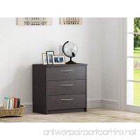 Homestar Finch 3 Drawer Chest 27.5 x 15.63 x 28 Espresso - B013V472J8