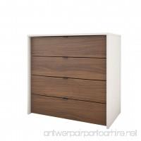 Nexera 212403 4-Drawer Chest White/Walnut - B01I3HKS8K