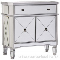 Powell Mirrored 1-Drawer 2-Door Console - B0051YHGRK