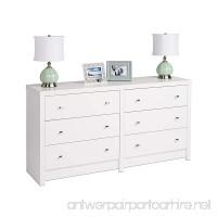 Prepac WDBR-0560-1 Calla 6-Drawer Dresser White - B00FOWNO16