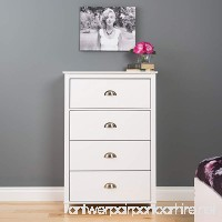 Prepac Yaletown 4 Drawer Chest  White - B01FJCF8WI