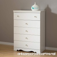 South Shore Crystal 5-Drawer Dresser  Pure White with Clear Knobs - B001JJBG8G