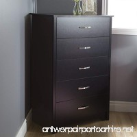 South Shore Fusion 5-Drawer Chest Pure Black - B00H24FGLK