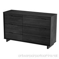 South Shore Fynn 6-Drawer Double Dresser Gray Oak with Metal Handles - B008CDVXJO