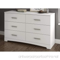 South Shore Gramercy 6-Drawer Double Dresser  Pure White - B071ZQNBMC