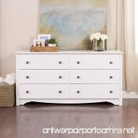 White Monterey 6 Drawer Dresser - B001KW0CBY