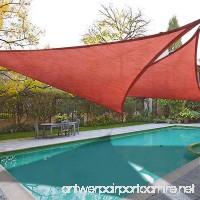 2x 16.5' Triangle Sun Shade Sail Patio Deck Beach Garden Yard Outdoor Canopy Cover UV Blocking (Dark Red) - B00LO1D1BY