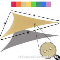 Alion Home 10' x 10'x 10' Triangle Waterproof Woven Sun Shade Sail in Vibrant Colors (Desert Sand) - B01MY58T9E