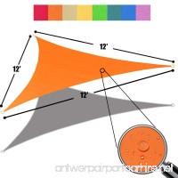 Alion Home 12' x 12'x 12' Triangle Waterproof Woven Sun Shade Sail in Vibrant Colors (Tangerine Orange) - B01LXHK9HW