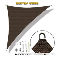 Alion Home Custom Right Triangle HDPE UV Block Sun Shade Sail Permeable Canopy with Stainless Hardware Kit (10' x 14' x 17' Brown) - B07BTFW1NN