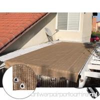 Alion Home Pergola Shade Cover Sunblock Patio Canopy HDPE Permeable Cloth with Grommets (8' x 12' Walnut) - B07BTMXKVR