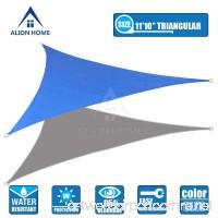 Alion Home Waterproof Woven Sun Shade Sail - Royal Blue (11 ft 10 Triangular) - B01FTHCALA