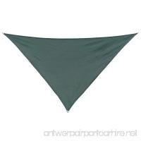 California Sun Shade Coolaroo Shade Sail Triangle 12-Foot Heritage Green - B00JTWXJLM