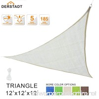 Derstadt Sun Shade Sail Top Quality Outdoor Patio Canopy Backyard  Triangle - B072PSD8NC
