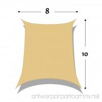DIR 8' x 10' Rectangle Sun Shade Sail Uv Top Outdoor Canopy Patio Lawn Shade Sail in Color Sand - B01MTSO7X5