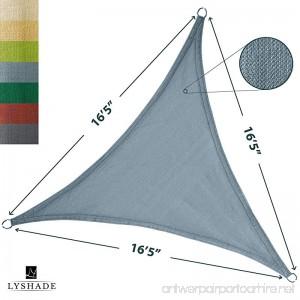 LyShade 16'5 x 16'5 x 16'5 Triangle Sun Shade Sail Canopy (Cadet Blue) - UV Block for Patio and Outdoor - B01N75CSM4