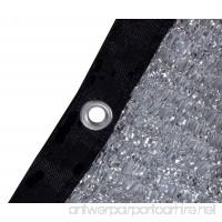 "soclerg 70% Aluminet Shade Cloth Fabric Sun Block Sun Reflect-FREE 12pcs 6"" BALL BUNGEE (13' x 24') - B07FL2HD9T"