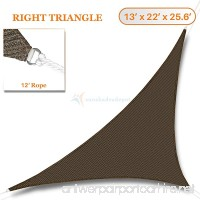 Sunshades Depot 13' x 22' x 25.6' Sun Shade Sail Right Triangle Permeable Canopy Brown Coffee Custom Size Available Commercial Standard 180 GSM HDPE - B01LWA96ZH