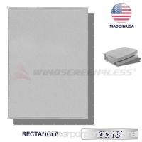 Windscreen4less Straight Edge Sun Shade Sail Rectangle Outdoor Shade Cloth Pergola Cover UV Block Fabric 180GSM - Custom Size Light Grey 4' X 18' - B074KKJ9JP